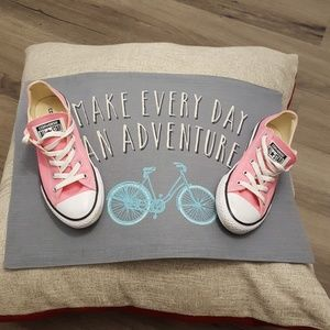 Kids size 3 Pink Converse